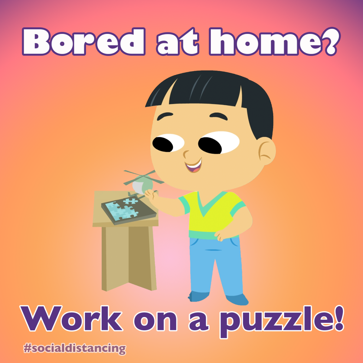 work on a puzzle
