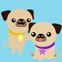 Cutie Pugs ABC - Kindergarten